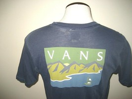 Vans Shoes Mens Stream Sail Graphic Pocket SS Tee shirt Faded Blue Free Ship NWT - $24.99