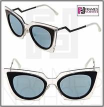 Fendi Orchidea FF0117S Crystal Black Azure Mirrored Sunglasses Optyl 0117 - $228.69