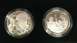 2018 World War I Centennial Silver Dollar and Army Medal Set US Mint - $88.19
