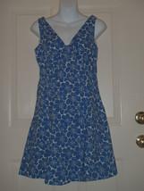 54bfb5aebd3 Boden Size 8R UK Dress Blue Floral Cotton Spring Summer -  37.08