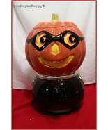 Dept 56 Halloween  Ceremic Pumpkin Cauldron Cider Beverage Server  New i... - $123.75