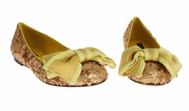 NWT $920 DOLCE & GABBANA Yellow Sequined Silk Loafers Flat Shoes EU39 / ... - $350.31