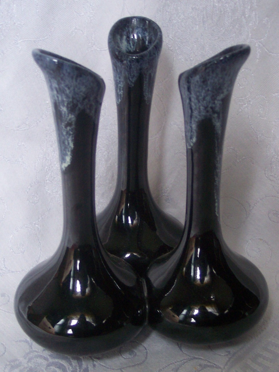 Van briggle pottery vase jet black white and 50 similar items reviewsmspy