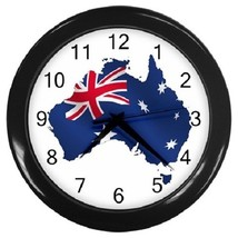 Australian Flag Decorative Wall Clock (Black) Gift model 16468682 - $19.99