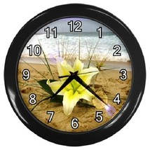 Beach Lily Flower Decorative Wall Clock (Black) Gift model 14571086 - $19.99