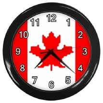 Canada Flag Decorative Wall Clock (Black) Gift model 14515375 - $19.99
