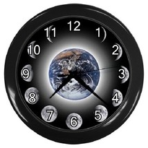 Earth Moon Phases Decorative Wall Clock (Black) Gift model 14566223 - $19.99