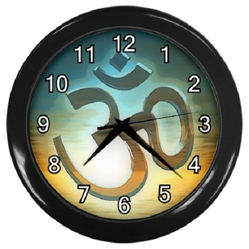 Global Om Sunset Decorative Wall Clock (Black) Gift model 14553077