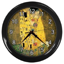 Gustav Klimt The Kiss Decorative Wall Clock (Black) Gift model 30276127 - $19.99