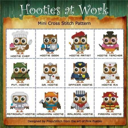 Primary image for Hooties at Work mini collection cross stitch chart Pinoy Stitch