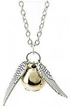 Harry Potter Inspired Golden Snitch Necklace By Silverlightl - $16.64