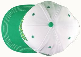 Flat Fitty Hashtag Fresh Wiz Khalifa Green White Snapback Baseball Hat Cap NWT image 3