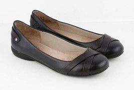Womens LifeStride Adeline Slip On Loafer - Black Leather, Size 9 W US  - $59.99