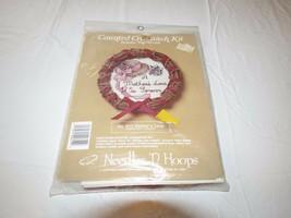 Compté Crosstitch Kit Vigne Couronne Needles'N Hoops Rare NOS 612 de Mèr... - $13.84