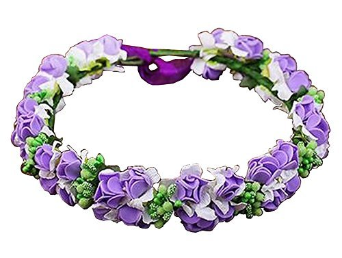 Primary image for Bohemian Headdress [Mysterious Purple] Artificial Flower Hair Wreath #01
