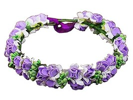 Bohemian Headdress [Mysterious Purple] Artificial Flower Hair Wreath #01 - $23.59