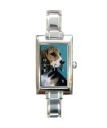 Ladies Rectangular Italian Charm Watch Beagle Pet Dog Gift model 16999036 - $11.99
