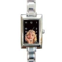 Ladies Rectangular Italian Charm Watch Marilyn Monroe Smoking Cigarette ... - $11.99