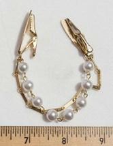 Vintage Gold Tone Pearl Ladies Collar Clip jds - $12.86