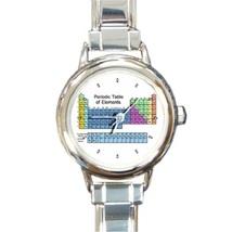 Ladies Round Italian Charm Bracelet Watch Periodic Table Chemistry 26024647 - $11.99