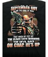 September Guy Devil Graphic T Shirt Mens 2XL - $12.34
