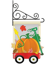 Fall Pumpkins Hand Wagon Garden - Applique Decorative Metal Fansy Wall B... - $29.97