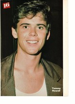 C Thomas Howell Corey Hart teen magazine pinup clipping close up nice teeth