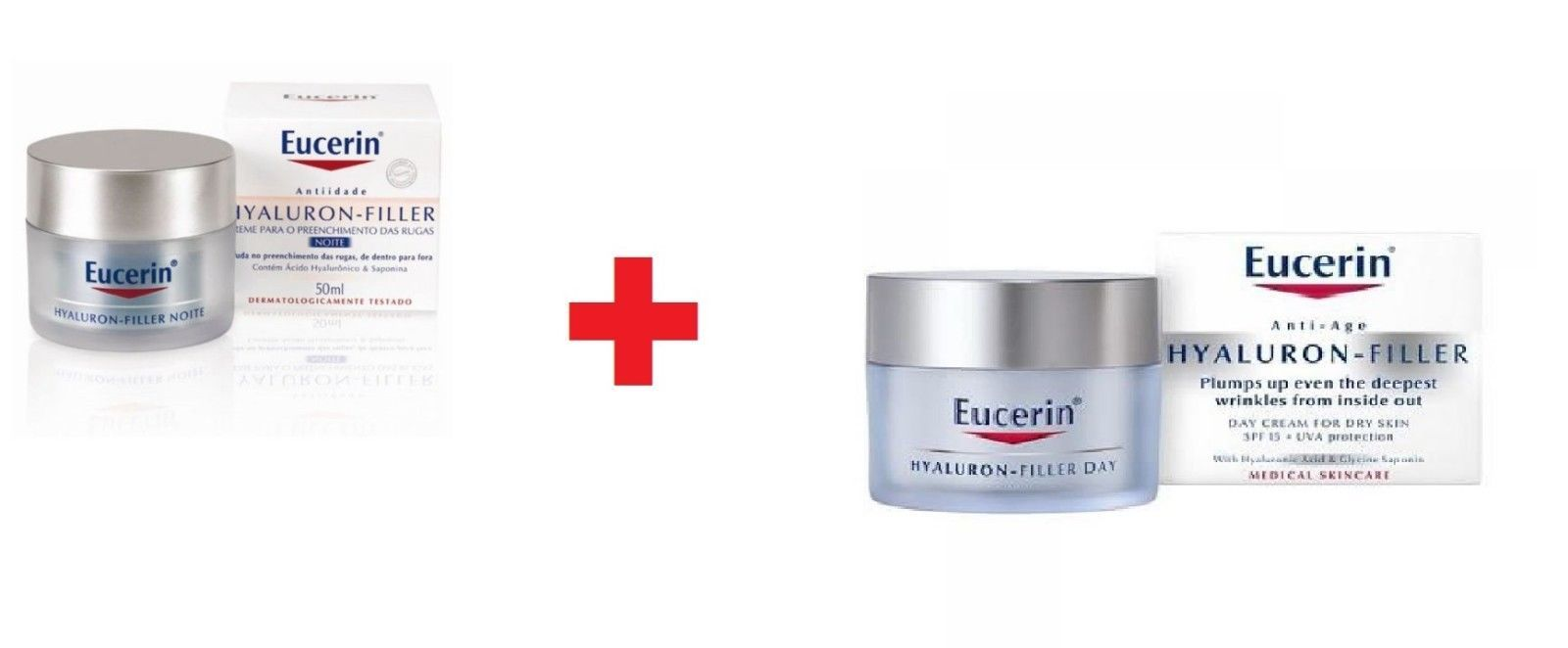 Eucerin Hyaluron Filler Night + Day SPF 15 cream 50ml X 2 - $69.29