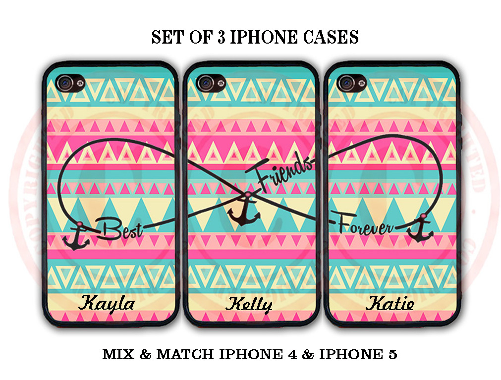 Personalized Mint Pink Blue Aztec BFF Best Friends iPhone Case -3 iPhone 5 Cases for sale  USA
