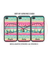 Personalized Mint Pink Blue Aztec BFF Best Friends iPhone Case -3 iPhone... - $29.99