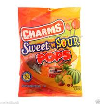 CHARMS 3.85 oz Bag SWEET 'N SOUR Lollipops/Hard Candy POPS Gluten-Free NEW! - $3.99