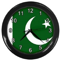 Pakistan Flag Decorative Wall Clock (Black) Gift model 14548132 - $19.99