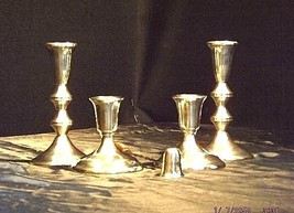 Candlestick Holders Weighted Set of 5 AB 430