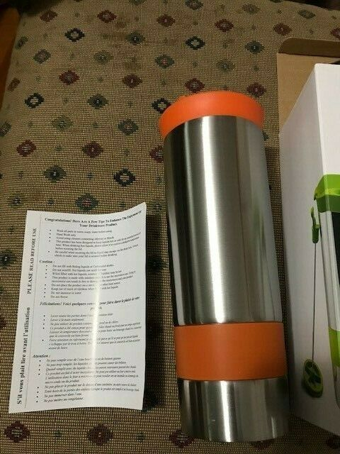 Asobu The Hot coffee and tea press Vacuum Insulated Travel Mug, 16 ounce, Stainl