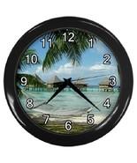 Polynesia Beach Decorative Wall Clock (Black) Gift model 37403290 - $19.99