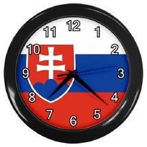 Slovakia Flag Decorative Wall Clock (Black) Gift model 14551402 - $19.99