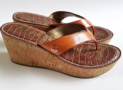 2bb4c25c685a Sam Edelman Thong Sandals Leather Cork Wedge and 19 similar items. 12