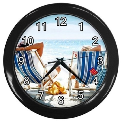 The Beach Decorative Wall Clock (Black) Gift model 37703529