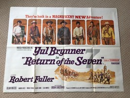 Return of the Magnificent Seven 7 Original UK Quad Film Movie Poster. Br... - $1,005.56