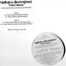 Natasha Bedingfield These Words Vinyl LP Dwele Remix  - $9.99