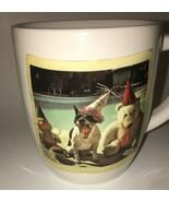 Rae Dunn Mug Throw Yourself a Party Dog Teddy Bear Duck with Party Hats ... - $14.95