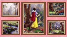 "Snow White Finds The Cottage-Snow White-7 Dwarfs-Approx. 23"" x 43""-David Textile - $9.95"