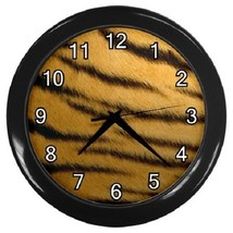 Tiger Print Decorative Wall Clock (Black) Gift model 24167825 - $19.99