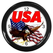 USA Eagle Flag Decorative Wall Clock (Black) Gift model 16468695 - $19.99