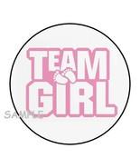 """30 TEAM GIRL BABY SHOWER ENVELOPE SEALS LABELS STICKERS 1.5"""" ROUND FEET ... - $4.99"""