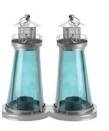 2 Nautical Watch Tower Candle Lanterns - $15.60