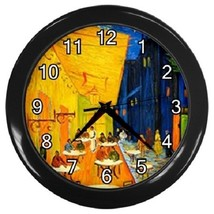 Van Gogh Cafe Terrace At Night Decorative Wall Clock (Black) Gift model ... - $19.99
