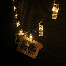 30 LED Photo Clips String Lights Christmas Indoor USB Powered 12 Ft - $21.88