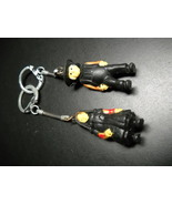 Key Chain Rubberish Amish Man and Woman in Modest Black Two Key Chains - $9.99