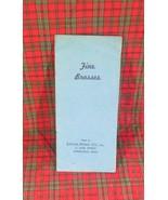 Fine Brasses 1941 Catalog, Eaton-Pond, Springfield, MA - $10.39
